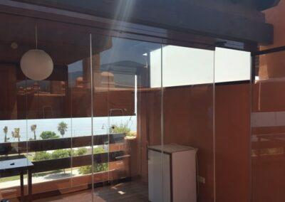 Cortinas y techos de cristal