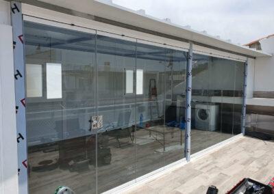 Cortina de Cristal y Panel de Cubiertas en Pedregalejo Moderglass